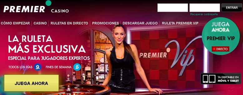 Ruletas Premier Casino